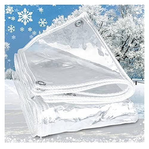 ZWYSL Paño Impermeable Lona Transparente Espesa Prueba Lluvia Cloruro Polivinilo Paño Plástico Adecuado para Balcones, Jardines Al Aire Libre (Color : Clear Gray, Size : 1.2x2m)