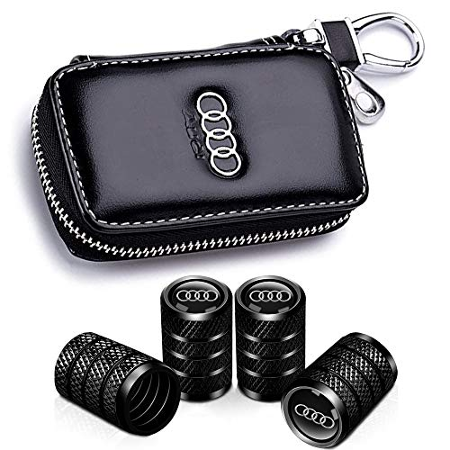 for Audi Key Fob Cover Case Premium Soft TPU 360 Degree Entire Protection Key Shell Key Case Compatible with Audi A4 A5 Q5 Q7 TT TTS S4 S5 RS4 RS5+4pac Car Wheel Tire Valve Stem Caps for audi