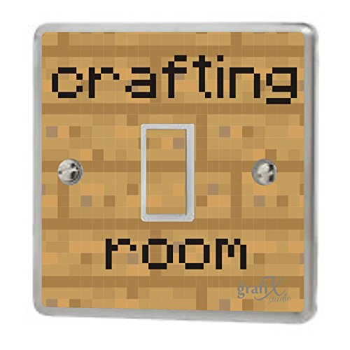 the grafix studio Computer Crafting Room Light Switch Sticker Vinyl/Skin cover, sw147