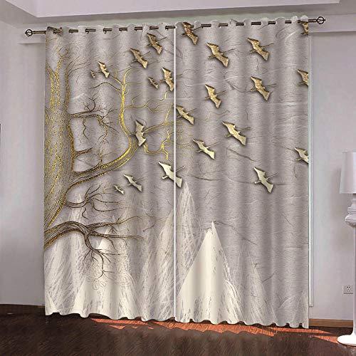YJRXSS Cortinas Aislantes Perro Mascota 2 X W 75 X L 166 Cm para Dormitorio Salón Habitación Comedor con Aislamiento Térmico para Decoración De Ventana 2 Paneles