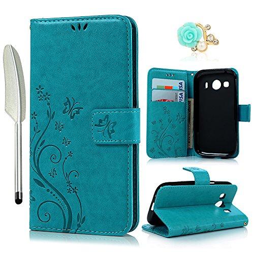 bester Test von samsung galaxy ace Brieftasche für YOKIRIN Samsung Galaxy G357 Samsung Galaxy Ace 4 G357 SM-G357FZ (4,3 Zoll) Brieftasche…