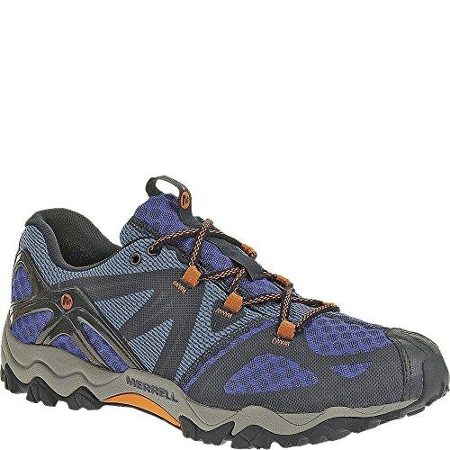 Merrell mens Grassbow Air Trail Running Shoe Black/Silver 7.5 M US