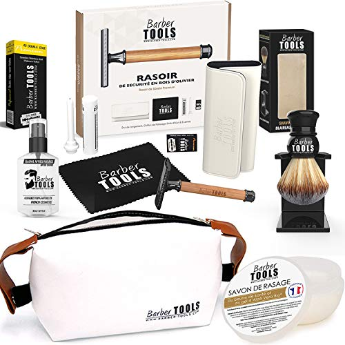 ✮ BARBER TOOLS ✮ Kit de afeitado - Maquinilla de afeitar de...