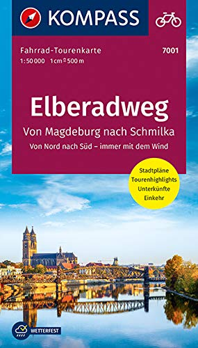 Fahrrad-Tourenkarte Elberadweg 1, Von Schmilka nach Magdeburg: Fahrrad-Tourenkarte. GPS-genau. 1:50000. (KOMPASS-Fahrrad-Tourenkarten, Band 7001)