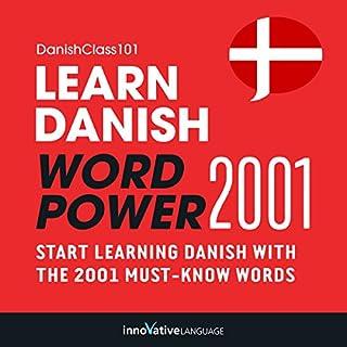 Learn Danish: Word Power 2001 audiobook cover art