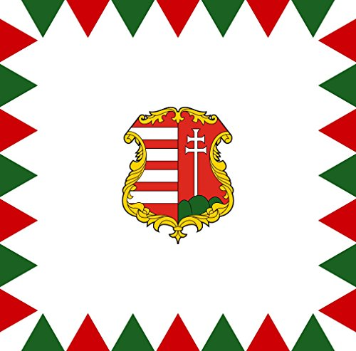 magFlags Drapeau Large Hungary 1848 | Used by Hungarians During The Revolution of 1848 and 1849 | 1.35m² | 120x120cm