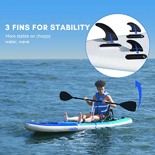 Product Image 6: Zupapa 2020 Upgrade 10FT SUP Paddle Boards 350LBS Weight Capability with Stand Up Board Inflatable Seats 3-Year Warranty Provided