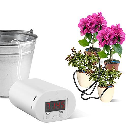Haibinsuo Bewässerungssystem, Indoor Bewässerungssystem Balkon, Programmierbares 9-Tage-Timer-LED-Display Werkzeuge für die Innenbewässerung von 8 Topfpflanzen im Freien YDJH08