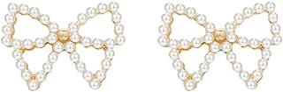 金桥Pendientes de perlas flor hueca diamantes de circonio dulce multicolor