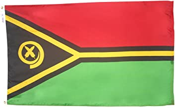 product image for Annin Flagmakers Model 199253 Vanuatu Flag 3x5 ft. Nylon SolarGuard Nyl-Glo 100% Made in USA to Official United Nations Design Specifications.