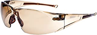 Bolle Safety RUSH Safety Glasses with Dark Amber Lens and Twilight Frame