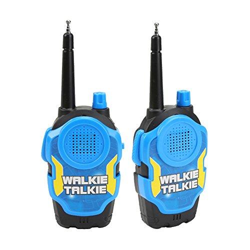 hou zhi liang Kids Toy Walkie Talkies - 2 Unidades de Radios de Dos Vías Walky Talky de Larga Gama UHF de Mano al Aire Libre, Juguete para Niños para el Día del Cumpleaño/Regalo de Navidad (Azul)