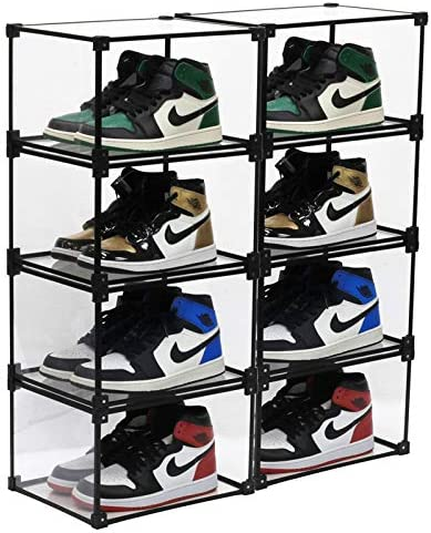 Clear Shoe Box Stackable Shoe Storage Shoes Display Shelf Case with Drop Front Side open Shoe product image