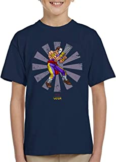 Cloud City 7 Vega Retro Japanese Street Fighter Kid's T-Shirt