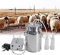 ヤギ搾乳機、7Lリチャージポータブル真空脈動乳ポンプ電動搾乳者キット畜産搾乳装置