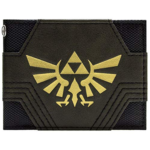 Nintendo Zelda Texturé Or Triforce Noir Portefeuille