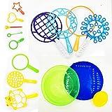 15 Juego Varitas de Burbujas, Varitas de Burbujas con Bandeja de Burbujas, Juego de Varitas de Burbujas para Niños, para Actividades al Aire Libre, Fiestas de Cumpleaños y Juegos