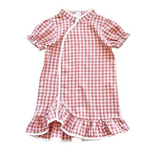 Janly Clearance Sale Vestido de niña para niñas de 0 a 10 años, vestido de princesa de estilo chino Cheongsam, rojo, 4-5 años