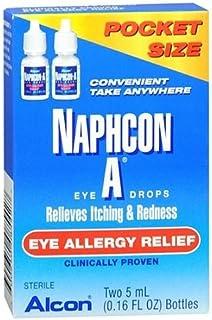 Naphcon-A Eye Allergy Relief Eye Drops, 5ml (0.16 floz), 2-Pack