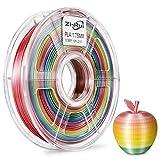 Zi-Rui 3D Printer PLA Filament, Rainbow Multi Color Gradient,1.75 mm,Dimensional Accuracy +/- 0.03 mm, 600G(1.3lbs) Spool.