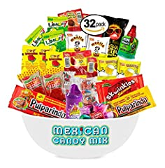 🍭The Mexican Candy Mix has a great assortment of (SPICY, SWEET, SOUR) candies and snacks. It makes a great gift idea for friends and family or for any occasion. 🍭Each delicous candy is hand picked from the most popular dulces and popular brands of ca...