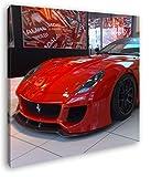 deyoli Roter Ferrari in Einer Ausstellung Format: 60x60 als