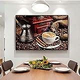 N / A Marco Moderno del Arte de la Pared del Tema del café en Carteles e Impresiones de la Lona Pintura sin Marco de la Pared del Grano de café de la Sala de Estar 60cmX90cm