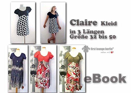 Claire Nähanleitung mit Schnittmuster auf CD für Jerseykleid in 3 Längen, longshirt, Kleid