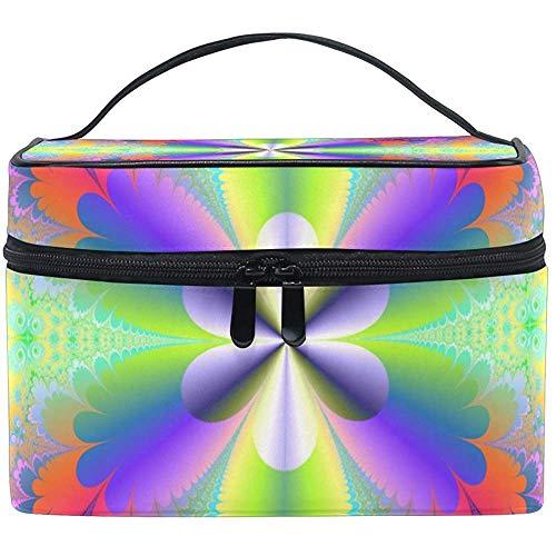 Flower Power Cosmetic Bag Travel Makeup Train Cases Storage Organizer