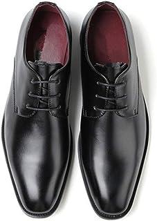 Leather Retro Oxfords for Men Formal Wedding Shoes Lace up Microfiber Leather Burnished Style Rubber Sole Vegan shoes (Color : Black, Size : 45 EU)