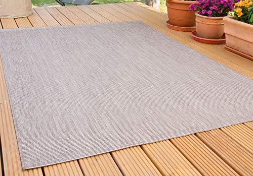 In- und Outdoor Teppich Halland Sisal Optik, Webteppich, in Braun, GUT Siegel Zertifiziert, Größe: 240x330 cm