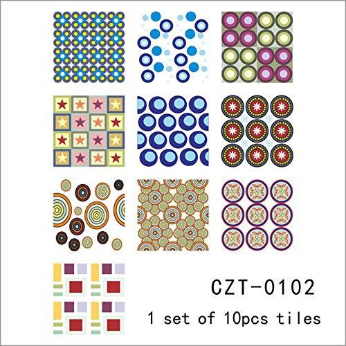 10 piezas/bolsa extraíble estilo Arabia azulejos mediterráneos impermeables pegatinas autoadhesivas para el hogar, cuarto de baño, cocina