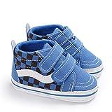 DEBAIJIA Bebé Primeros Pasos Zapatos de Lona12-18M NiñosAlpargata Suave Antideslizante Ligero Slip-on 20 EU Azul (Tamaño Etiqueta-3)