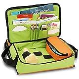 Maletín de educación sexual   Modelo EDUSEX´S   Elite Bags   Medidas: 40 x 24 x 16 cm   Colores juveniles y alegres: naranja y verde   Material resistente y lavable   Para fomentar una vida sexual san