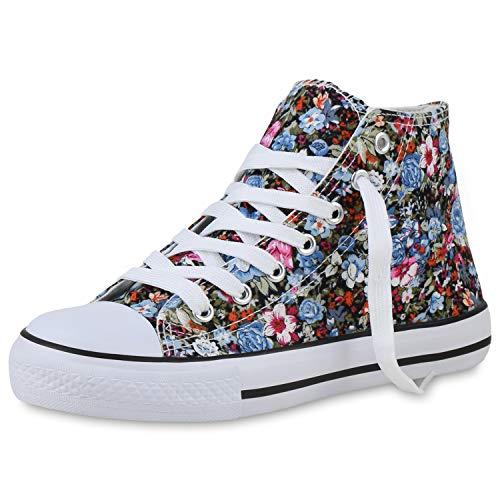 Scarpe Vita - Zapatillas para mujer, diseño de flores, color Multicolor, talla 38 EU