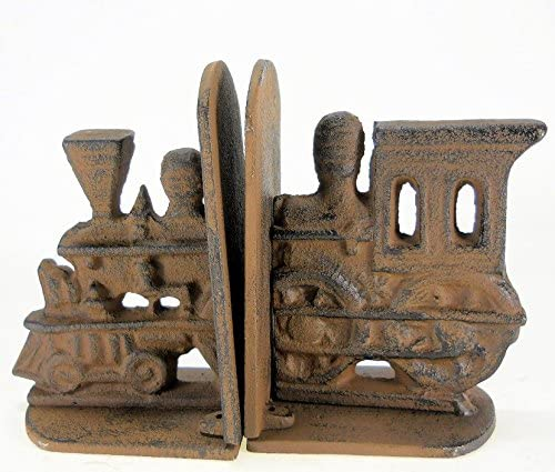 Cast Iron Train Engine Bookends reversible set gift heavy Clearance SALE Limited time Inventory cleanup selling sale