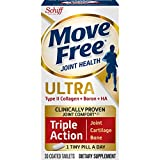 Type IICollagen, Boron & HA Ultra Triple Action Tablets, Move Free (30 count in a bottle) Joint Health Supplement With Just 1 iny Pill Per Day To Promote Joint Cartilage and Bone Health.