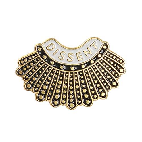 Happyyami Emaille Kragen Pin Mode Shirt Dissens Pins Entzückendes Hemd Legierung Brosche Brustnadel Schmuck für Kleidung Taschen Rucksäcke Jacken Hut DIY Dekoration