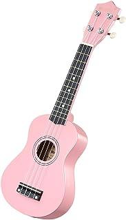 "Melodic 21"" Soprano Ukulele Bundle 4 Strings Musical Instrument w/Gig Bag Pink"