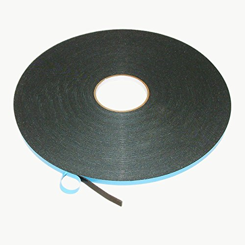 J.V. Converting DC-WGT-01/BLK03850 JVCC DC-WGT-01 Double Coated Window Glazing Tape: 0.0625' Thick x 3/8' x 50 yd, Black