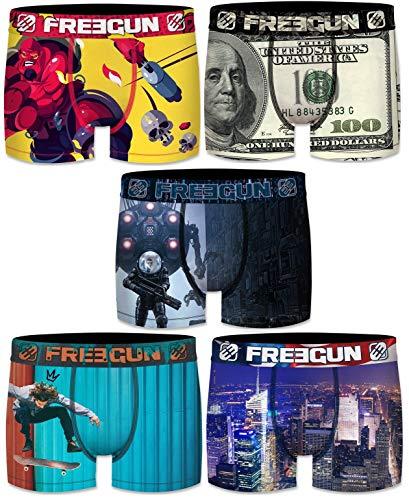 Freegun Boxershorts für Kinder, Mikrofaser, 5 Stück Gr. 10-12 Jahre, Serie 5 Sublim