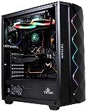 YEYIAN Caja Pc Gaming PC Abyss 2500 , ATX, M-ATX, ITX, EATX, Panel Lateral de Vidrio Templado, Audio HD, 2 USB 3.0 y Audio in, Iluminación ARGB, Incluye 3 Ventiladores ARG 120MM - YGA-49701 (Negro)