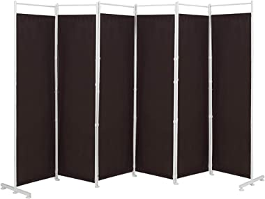 Giantex 6 Panel Room Divider, 6 Ft Folding Screen with Steel Support Base, Privacy Room Partition Room Dividers for Bedroom,