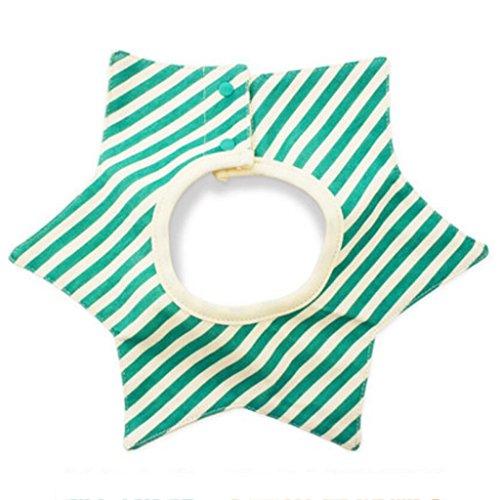 Bavoir bébé Liuyu · Maison de Vie Coton Rotation à 360 ° imperméable Nouveau-nés (Couleur : Vert, Taille : 3 Set)