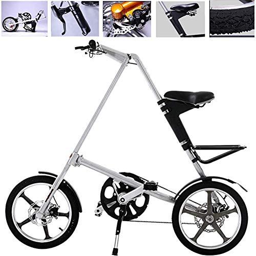 D&XQX 16 Pulgadas de Bicicletas Plegable, de Cercanías de Bicicletas Plegables Adulto...