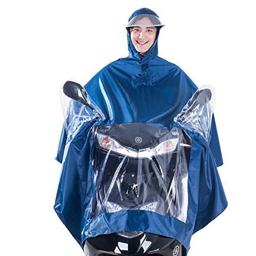 Preisvergleich Produktbild Motorrad Regenmantel Regenbekleidung Abdeckung Motorrad wasserdicht verlängert Poncho mit durchsichtigen Panel Universal Mens Womens Radfahren Fahrrad Fahrrad Regenmantel Regen Cape, XXXXL