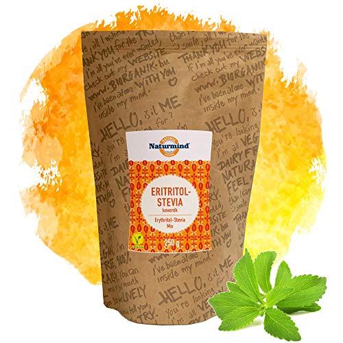 Naturmind Erythritol und Stevia Mix 250g | Natürlicher Zuckerersatz | Zuckerfreie Süssigkeiten | Ohne zucker | Paleo | Vegane | Zum Süßen Backwaren l Perfekt für tee und Coffee
