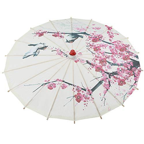 HERCHR Geölter Papierschirm, Pflaumenblüte Chinesischer Regenschirm Sonnenschirm für Hochzeitsfeiern Klassische Tanz Requisiten Fotografie Cosplay