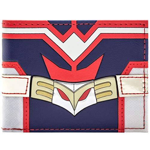 My Hero Academia All Might Costume Rouge et Bleu Noir Portefeuille