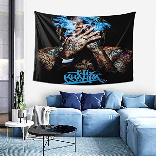 PeterLLowery Wiz Khalifa Cool Tapestry Indoor Wall Hanging Window Curtain Picnic Mat Decor Bedroom Living Room 60x40 Inch